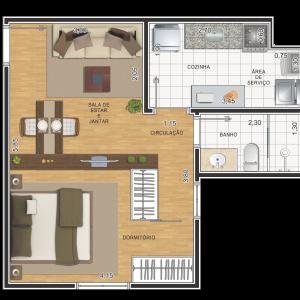 planta-1-dormitorio-35m2