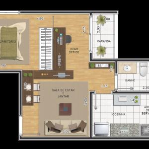 planta-1-dormitorio-39m2