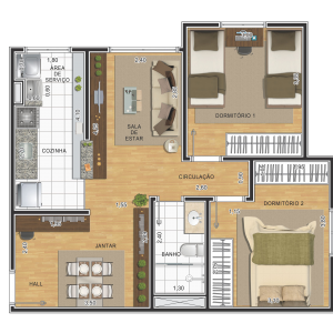 planta-2-dormitorios-58m2